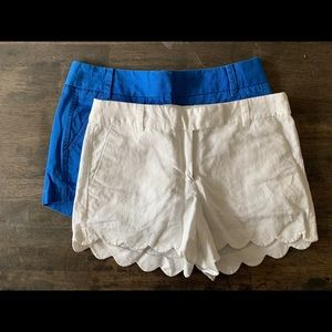 Two pack! Size 4 J. Crew Shorts